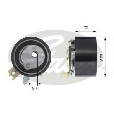 Ролик натяжной ГРМ 1.5 DCI Logan/MCV/Duster/Kangoo/Clio/Megane GATES T43014