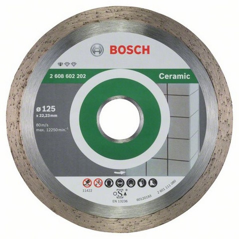 Алмазний відрізний круг Standard for Ceramic 125мм BOSCH