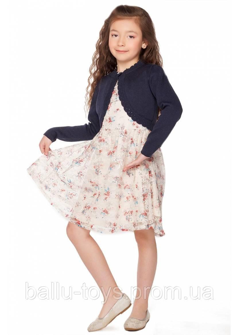 Нарядное болеро для девочки Алисия (3-8 лет)