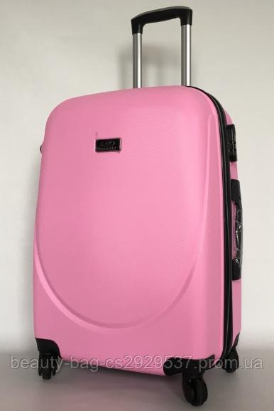 Чемодан пластиковый среднего размера Wings 310 1660 Midi розовый матовый
