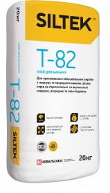 Клей для мрамора Siltek Т-82 (Силтек T 82) мешок 20кг, тёплый пол до 70С