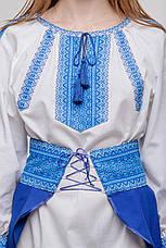 Костюм с вышивкой синего цвета, фото 2