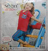 Пижама футболка + бриджи для девочек SEXEN 37082