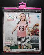 Пижама футболка + бриджи для девочек SEXEN 37105