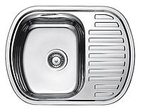 Прямоугольная кухонная мойка Fabiano 63х49 нержавеющая сталь, микродекор