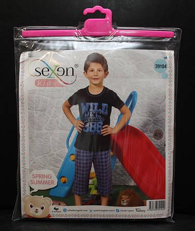 Пижама футболка + бриджи для мальчиков SEXEN 39104, фото 2