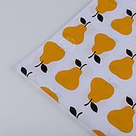 Отрез ткани с жёлтыми грушами (№ 693а) размер 72*160