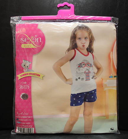 Летняя пижама майка с шортами для девочек SEXEN 36105, фото 2