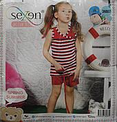 Летняя пижама майка с шортами для девочек SEXEN 36087