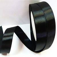 Атласная лента 5 см. черный