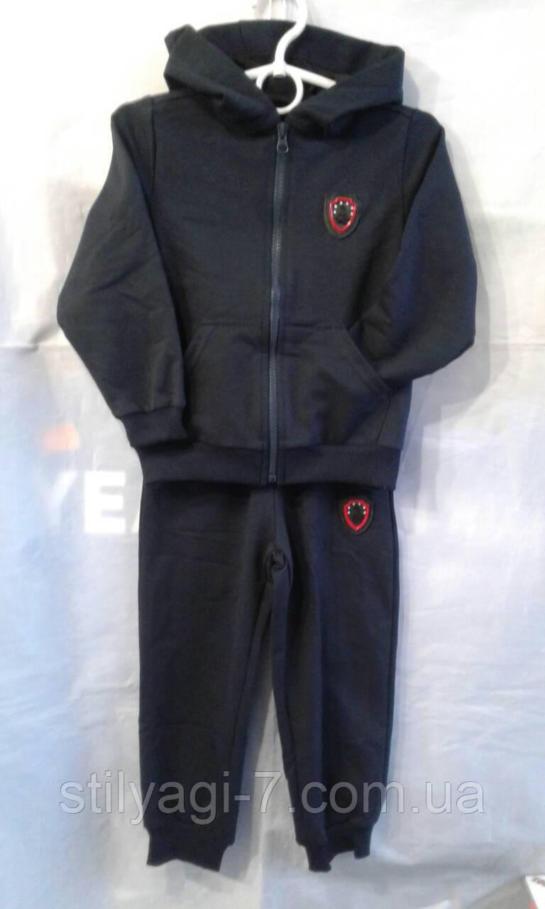Спортивный костюм для мальчика на 2-6 лет серого цвета c капюшоном оптом