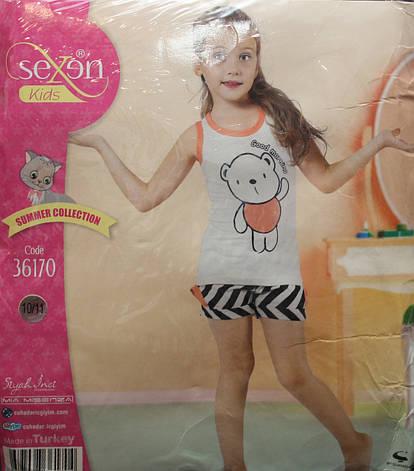 Летняя пижама майка с шортами для девочек SEXEN 36170, фото 2
