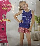 Летняя пижама майка с шортами для девочек SEXEN 36135