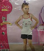 Летняя пижама майка с шортами для девочек SEXEN 36127