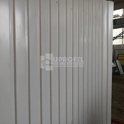 Профнастил стеновой ПС10 для забора Серый RAL 7004 глянец 0.40 мм., фото 2