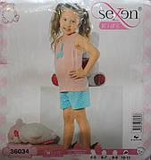 Летняя пижама майка с шортами для девочек SEXEN 36034