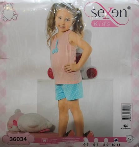 Летняя пижама майка с шортами для девочек SEXEN 36034, фото 2