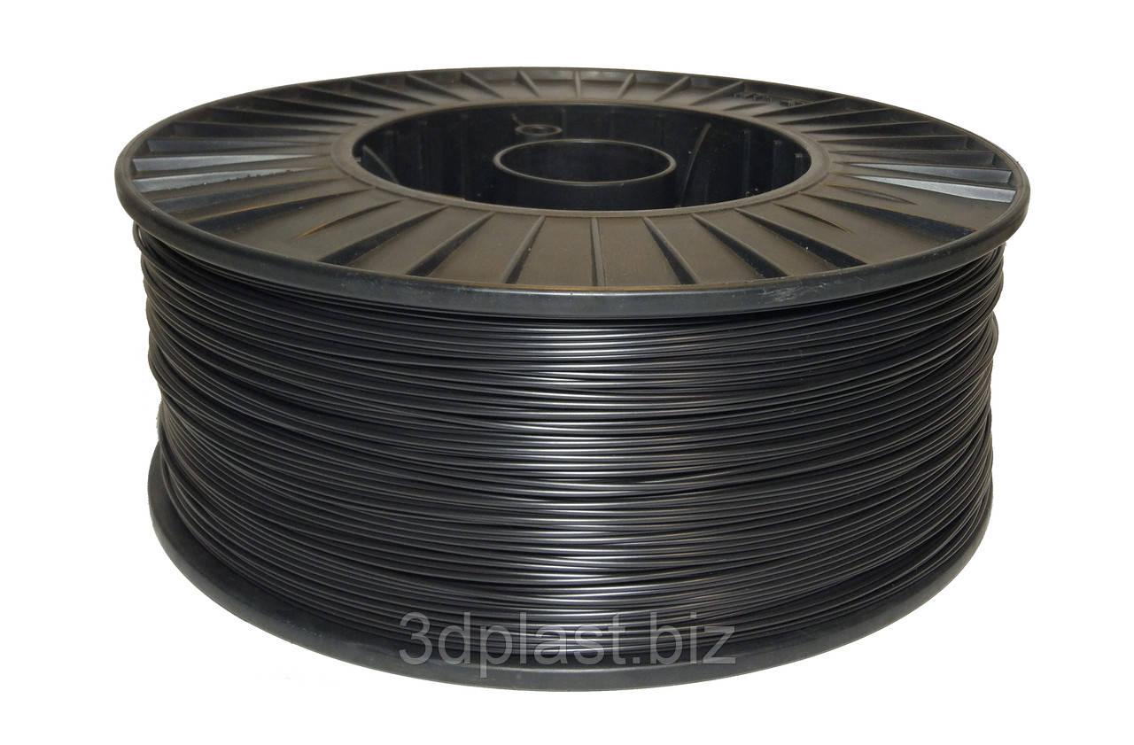 PLA пластик для 3D печати,1.75 мм, 0.75 кг 3, черный
