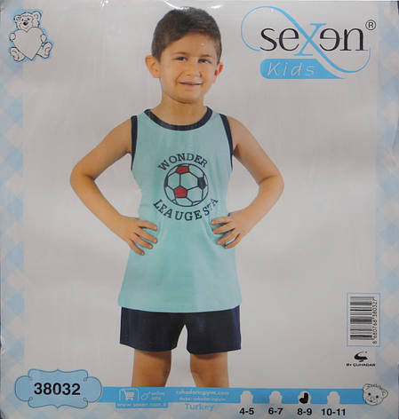 Летняя пижама майка с шортами для мальчиков SEXEN 38032, фото 2