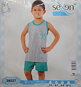 Летняя пижама майка с шортами для мальчиков SEXEN 38027