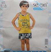 Летняя пижама майка с шортами для мальчиков SEXEN 38001