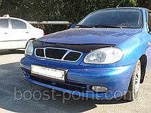 Дефлектор капота (мухобойка) Daewoo lanos (дэу/деу/део ланос) (седан, хетчбек) 1997г+