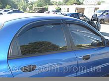 Дефлекторы окон (ветровики) Daewoo lanos (дэу/деу/део ланос) (седан, хетчбек) 1997г+