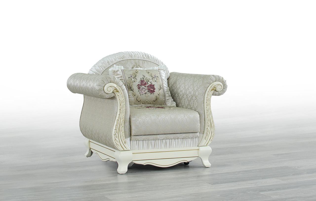 Кресло Лилея нераскладное (белое дерево) Мебус