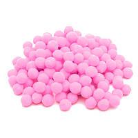 Розовые помпоны плюшевые (снежки) 1 см 500 шт/уп, фото 1