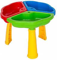 Игровой столик-песочница, в сетке 50*30см, ТМ Wader (4шт) (39481)
