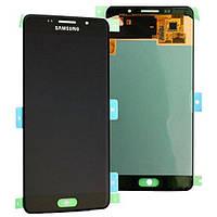 LCD Дисплей+сенсор  Samsung  A510F Galaxy A5 (2016), черный AMOLED оригинал 100%