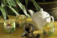 """Свеча в стеклянном стакане """"Зеленый чай"""""""