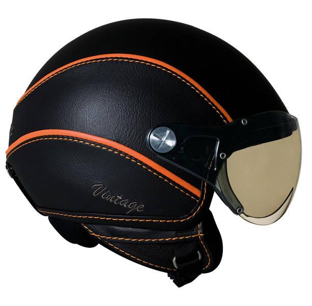 Шлем Nexx X60 Vision Vintage р.XXL, черно-оранжевый
