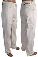 Мужские белые брюки 30-38 рр, фото 1