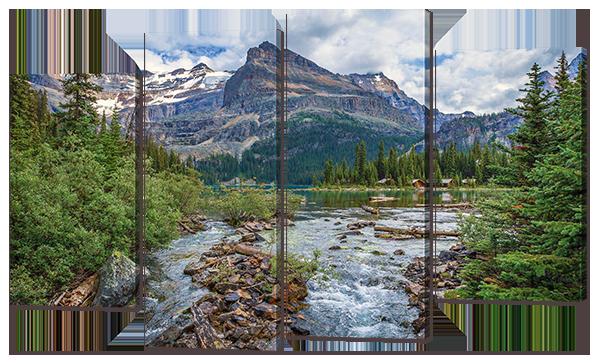 Модульная картина Горная река