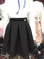 Классическая юбка для  девочек опт