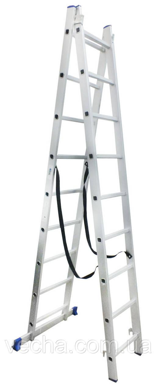 Лестница двухсекционная алюминиевая Werk 2х9