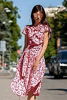 Легкое Платье на Лето Солнце Клеш Розовое S-XL, фото 1