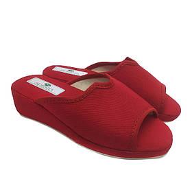 Женские тапочки на танкетке Спесита, домашняя обувь Spesita, 213 красный (36-41)