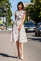 Легкое Платье на Лето Солнце Клеш Персиковое S-XL, фото 1