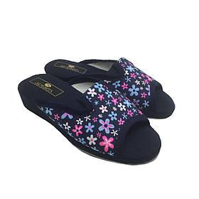 Женские тапочки на танкетке Спесита, домашняя обувь Spesita, 300 цветочки (36-41)