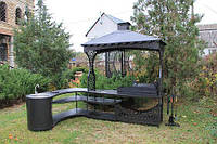 Мангальная зона Тамерлан с угловым столом и мойкой, фото 1