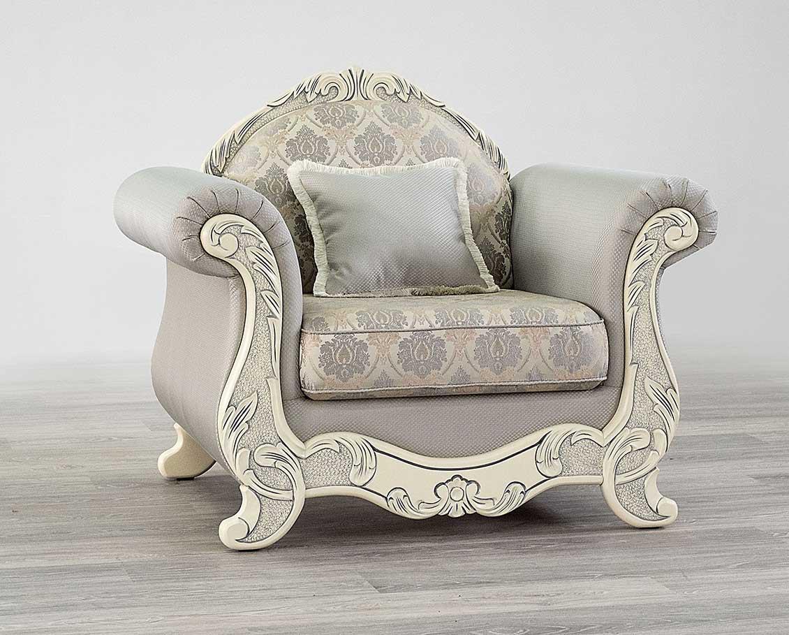Кресло Лира нераскладное (белое дерево) Мебус