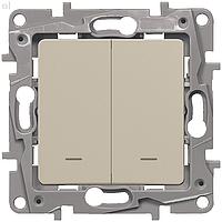 Выключатель проходной 2-й с подсветкой Слоновая кость ETIKA LEGRAND 672316