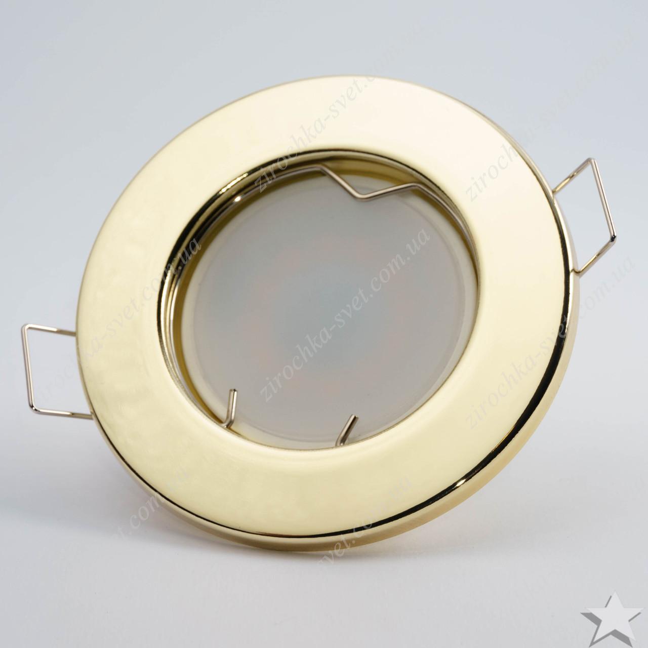 Светильник встраиваемый Feron DL10 золото под лампу MR16