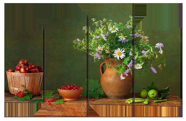 Модульная картина Натюрморт с цветами