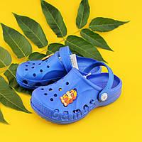 Детские кроксы синие пляжные Виталия р.20-21,22-23,24-25,26-27,32-33,34-35