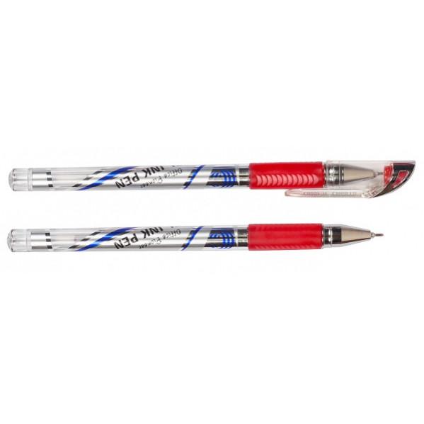 Ручка гелевая 601В красная