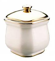 OCTAGONAL JAR Сахарница Октагонал бело-золотая
