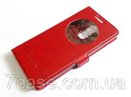 Чехол книжка с окошком momax для LG G3s (G3 mini) красный